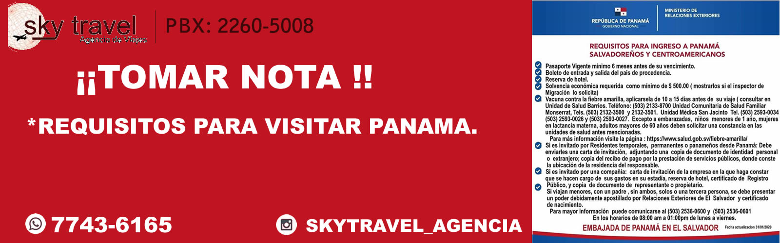 requisitos para entrar a panama